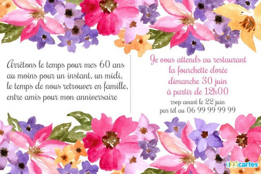 Texte anniversaire 50 ans fleurs