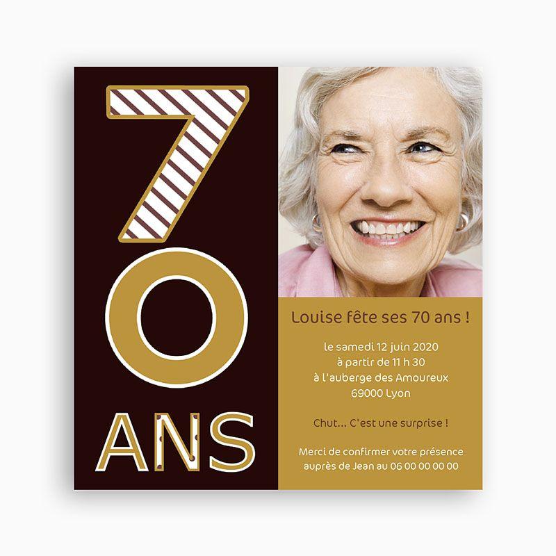 Carte Anniversaire Invitation 70 Ans Elevagequalitetouraine