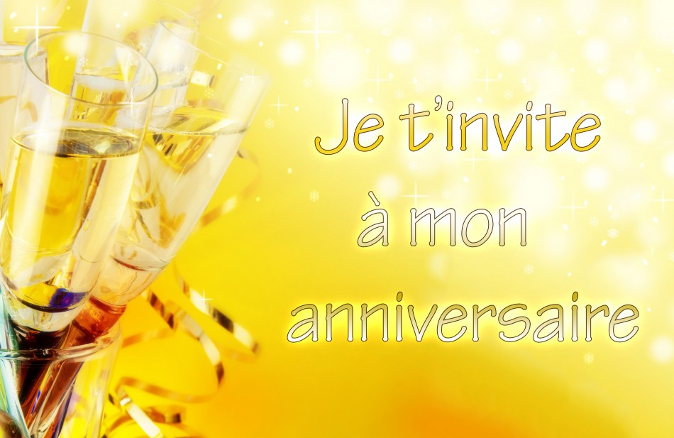 Invitation anniversaire jolie carte