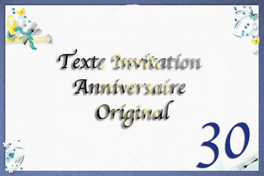 Anniversaire 30 ans texte gratuit
