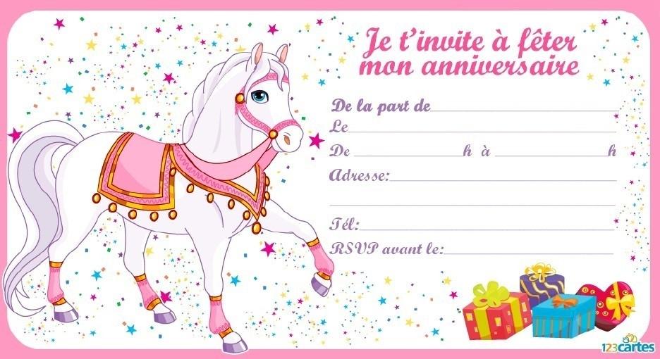 Carte anniversaire 8 ans fille imprimer
