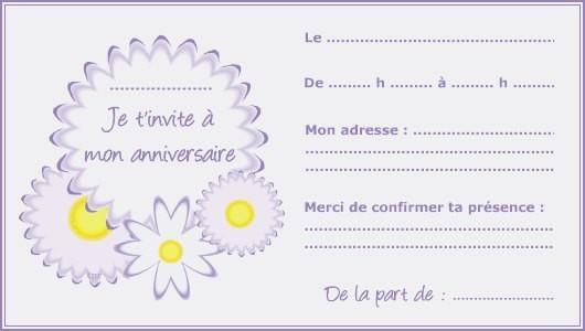 Carte d'invitation anniversaire gratuites