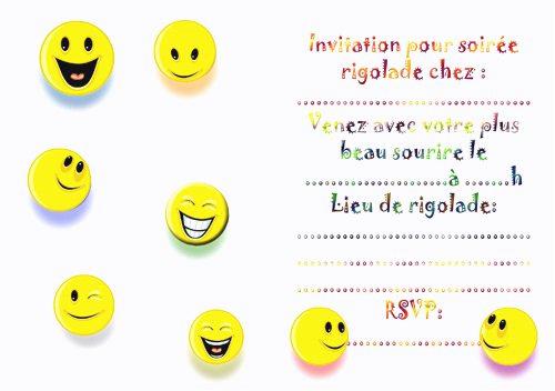 Carte D Invitation Anniversaire Emoji A Imprimer Elevagequalitetouraine