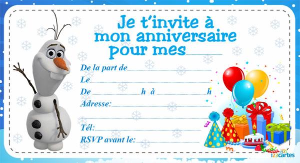 Carte D Invitation Anniversaire Imprimer Elevagequalitetouraine