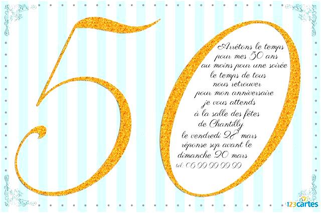 Carte Invitation Anniversaire A Imprimer Gratuit 50 Ans Elevagequalitetouraine