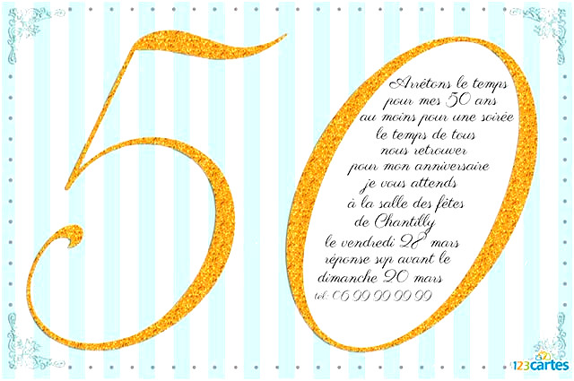 Carte Anniversaire 50 Ans A Imprimer Gratuitement