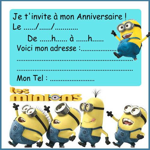 Carte anniversaire gratuite minions