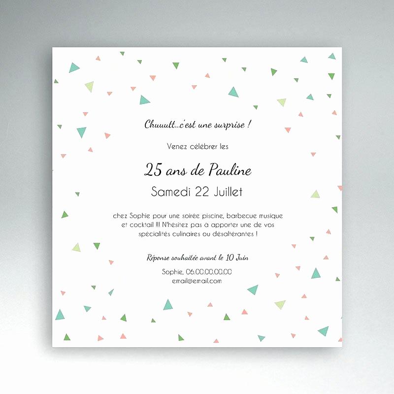 Texte d'invitation anniversaire 25 ans