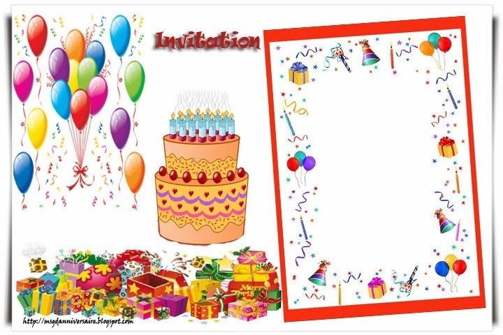 Carte d'invitation anniversaire garcon 10 ans gratuite à imprimer