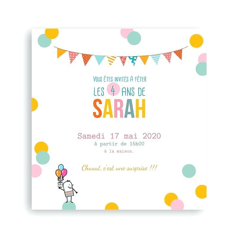 Texte d'invitation anniversaire 5 ans