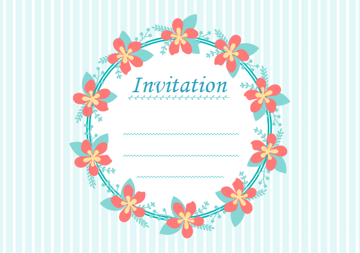 Carte d'invitation anniversaire a completer