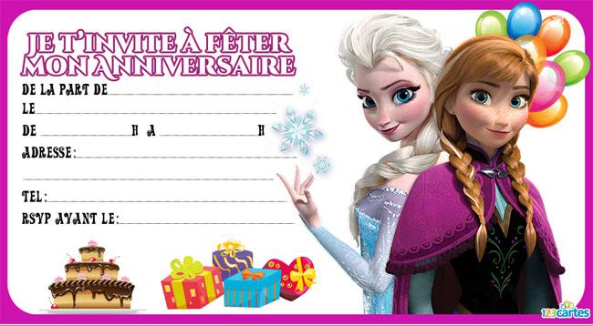 Carte d'invitation anniversaire fille 7 ans gratuit