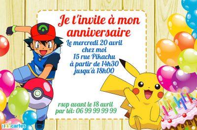 Creation carte anniversaire pokemon