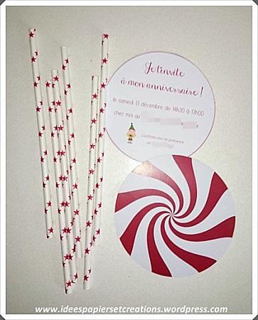 Carte invitation anniversaire sucette