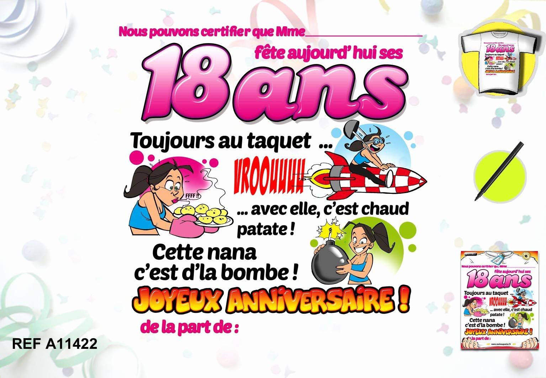 Carte anime anniversaire 18 ans