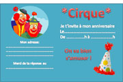 Texte invitation anniversaire clown