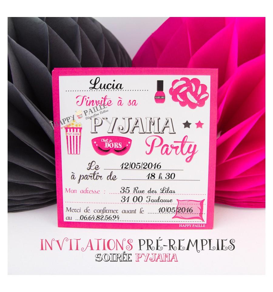 Carte invitation soirée anniversaire