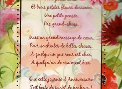 Jolie carte anniversaire femme fleurs