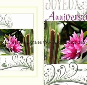 Remerciement carte anniversaire jolie carte
