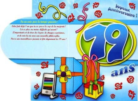 Texte voeux anniversaire 19 ans