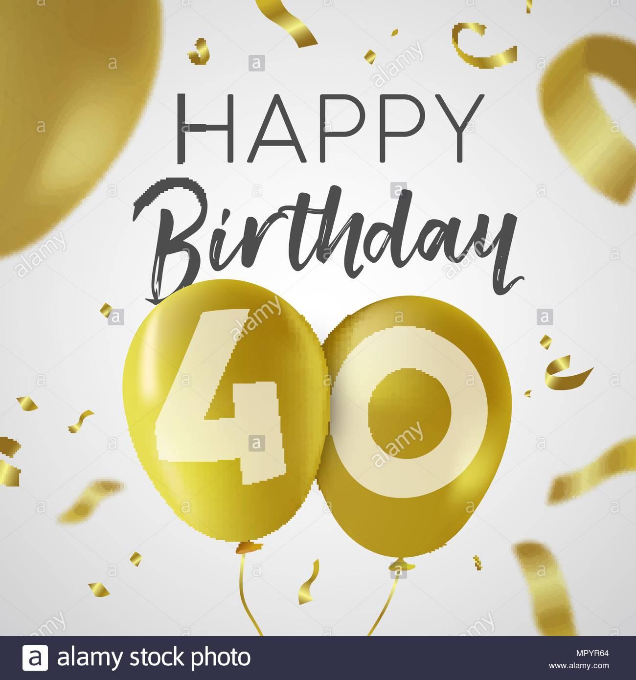 Carte anniversaire 40 ans avec photo