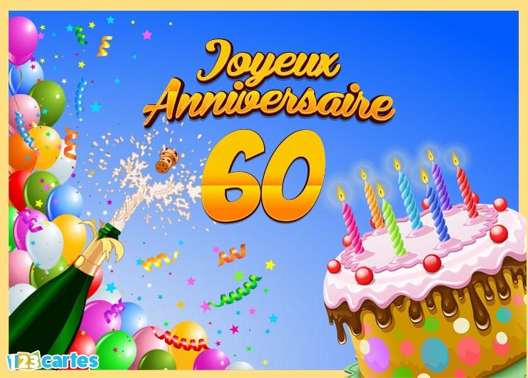 Carte Joyeux Anniversaire 60 Ans A Imprimer Elevagequalitetouraine