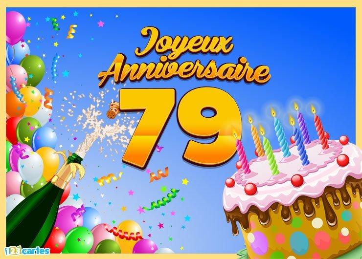 Message anniversaire 79 ans