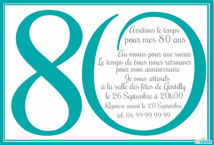Carte anniversaire 80 ans a imprimer