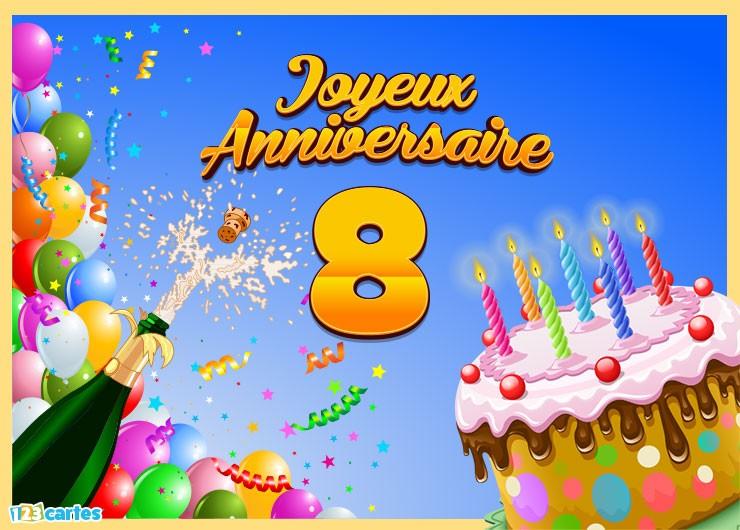 Carte anniversaire garcon de 8 ans
