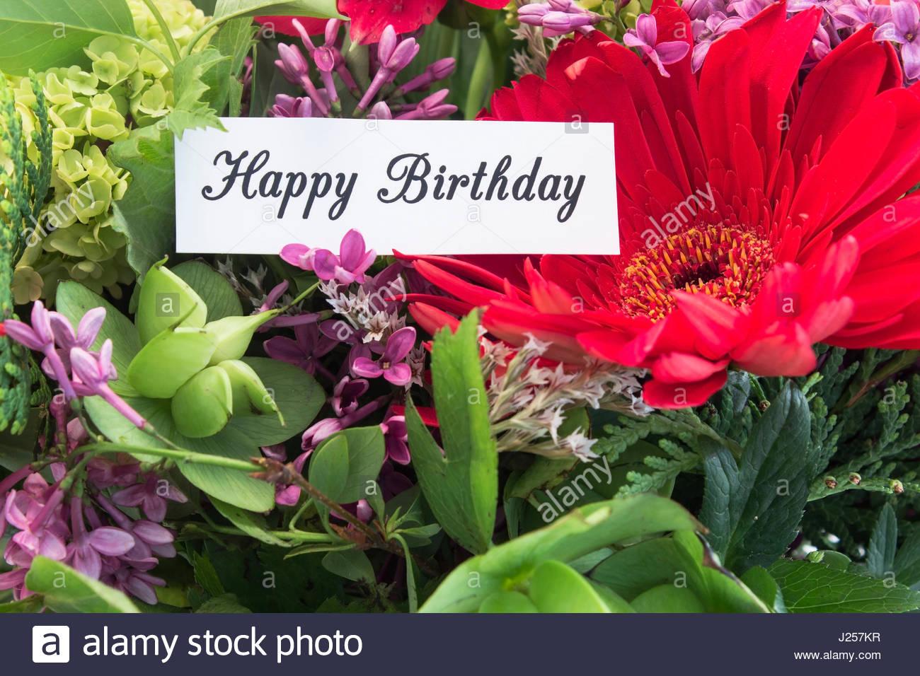 Carte anniversaire fleurs de printemps