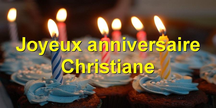 Carte joyeux anniversaire christiane