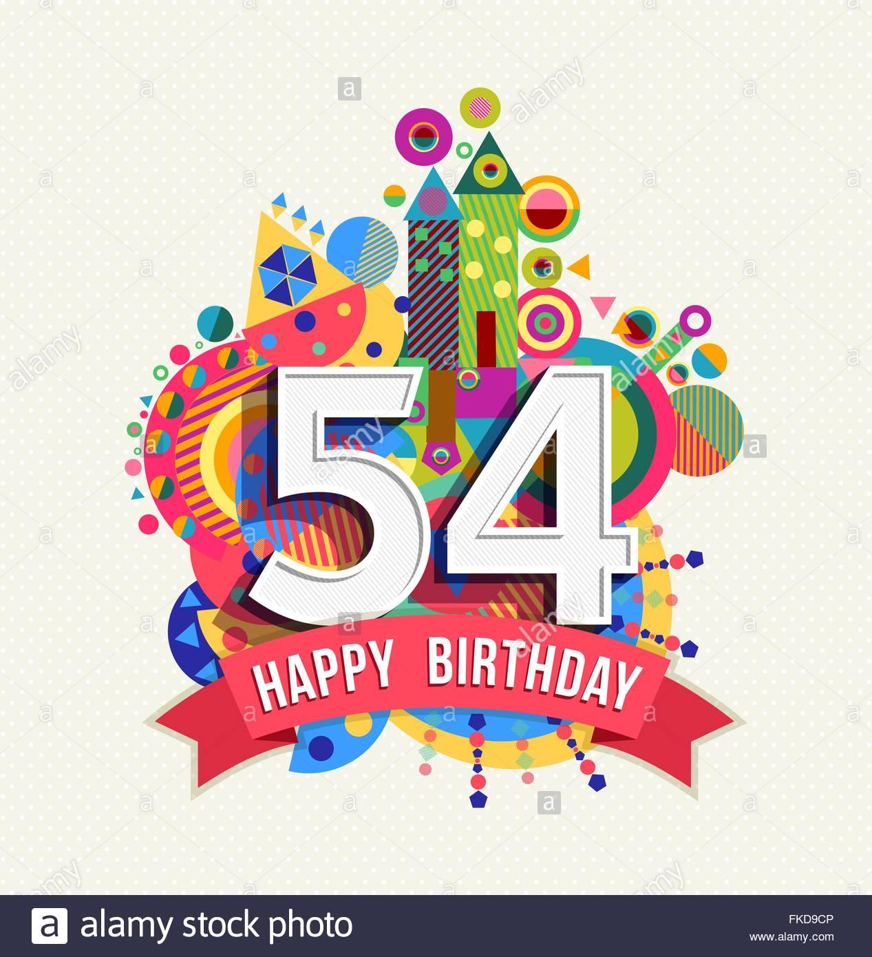 Texte anniversaire 54 ans
