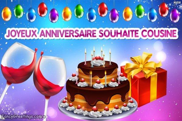 Carte bon anniversaire cousin