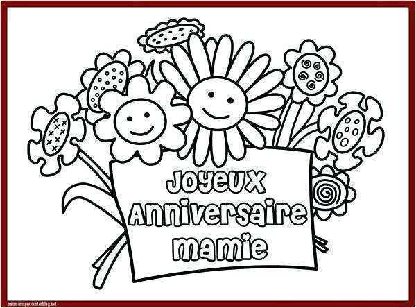 Coloriage Carte Anniversaire Mamie Elevagequalitetouraine