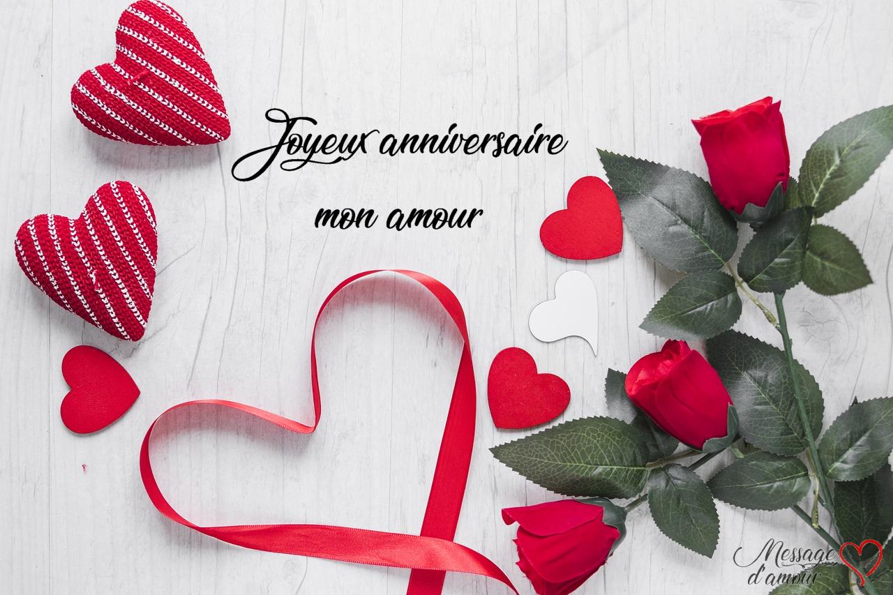 Carte anniversaire femme romantique