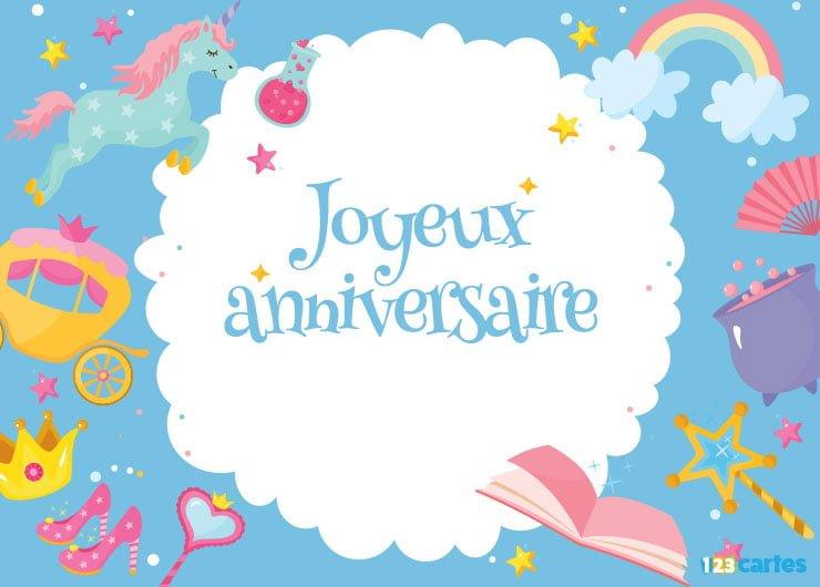 Carte joyeux anniversaire à imprimer 6 ans