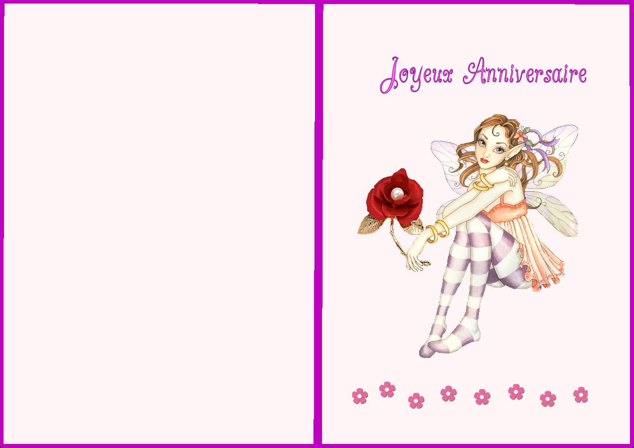 Carte de joyeux anniversaire à imprimer