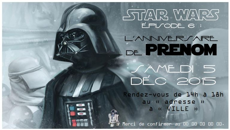 Carte D Invitation Anniversaire Gratuite A Imprimer Star Wars Elevagequalitetouraine
