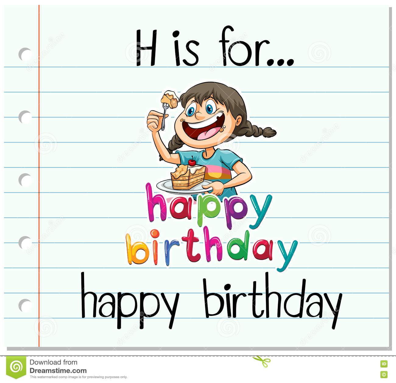 Carte anniversaire h