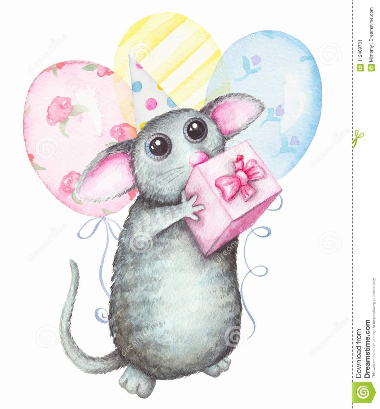 Carte anniversaire rat