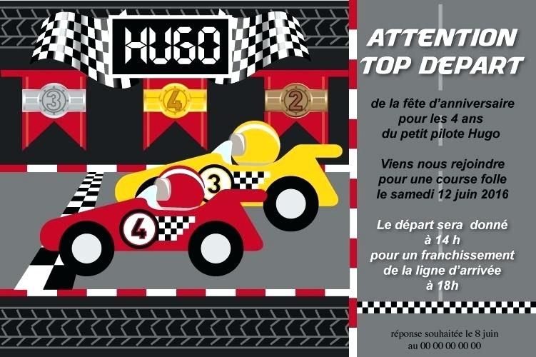 Texte invitation anniversaire karting