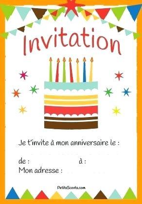 Carte invitation anniversaire en ligne gratuite