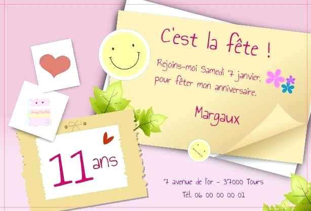 Exemple de texte invitation anniversaire 10ans