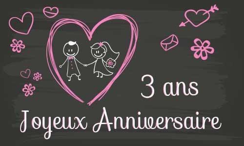 Carte anniversaire de mariage 26 ans