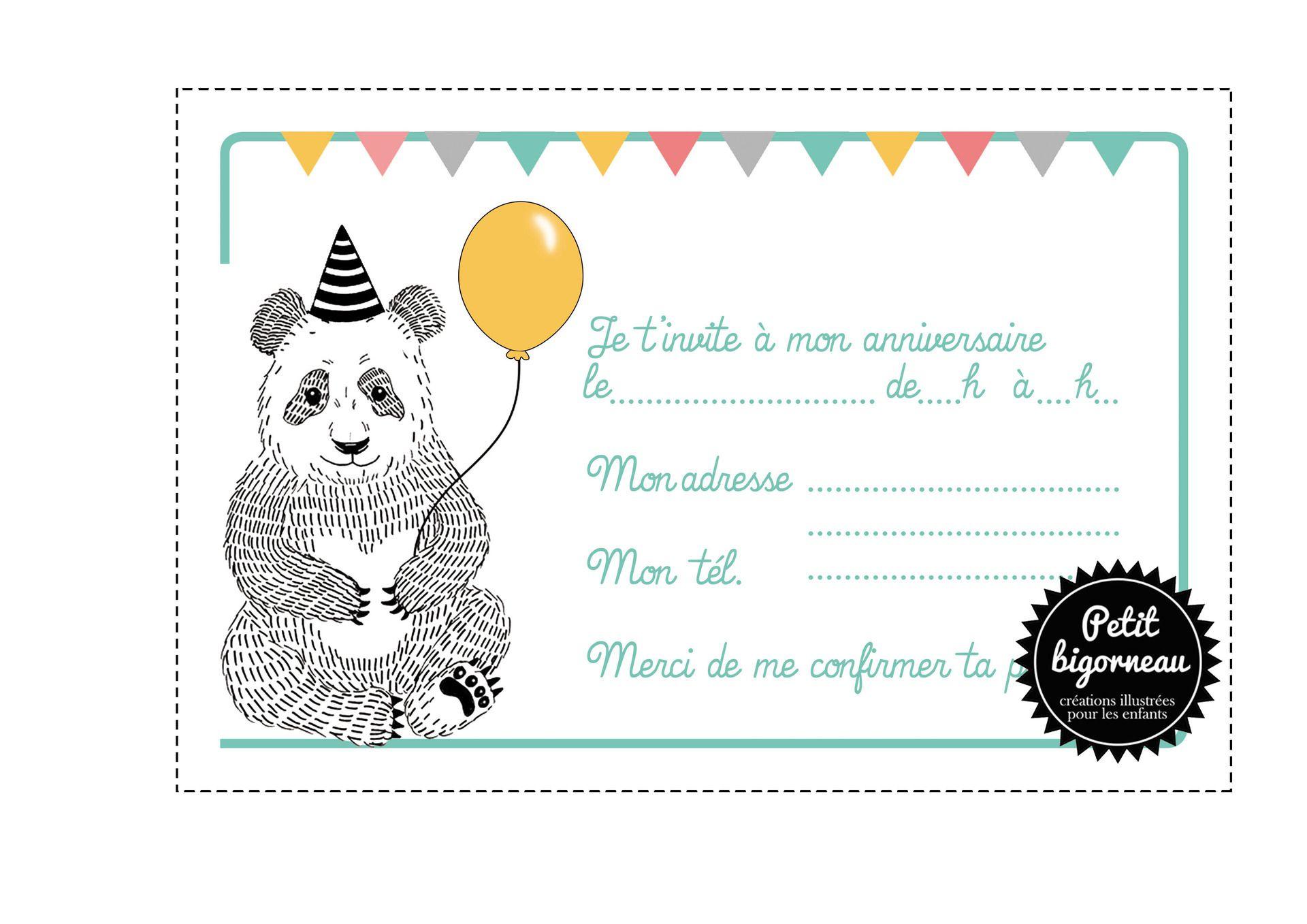 Carte d anniversaire invitation