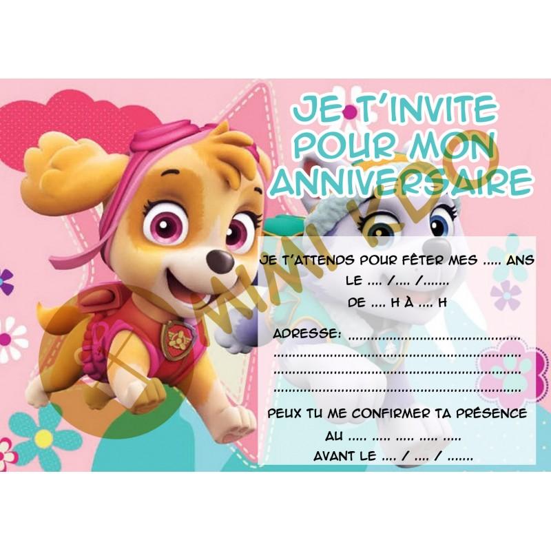 Texte invitation anniversaire pat patrouille