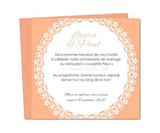 Texte invitation repas anniversaire mariage