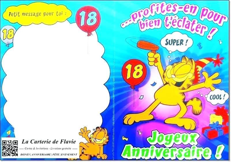 carte anniversaire 18 ans garçon Carte anniversaire a imprimer 18 ans garcon   Elevagequalitetouraine