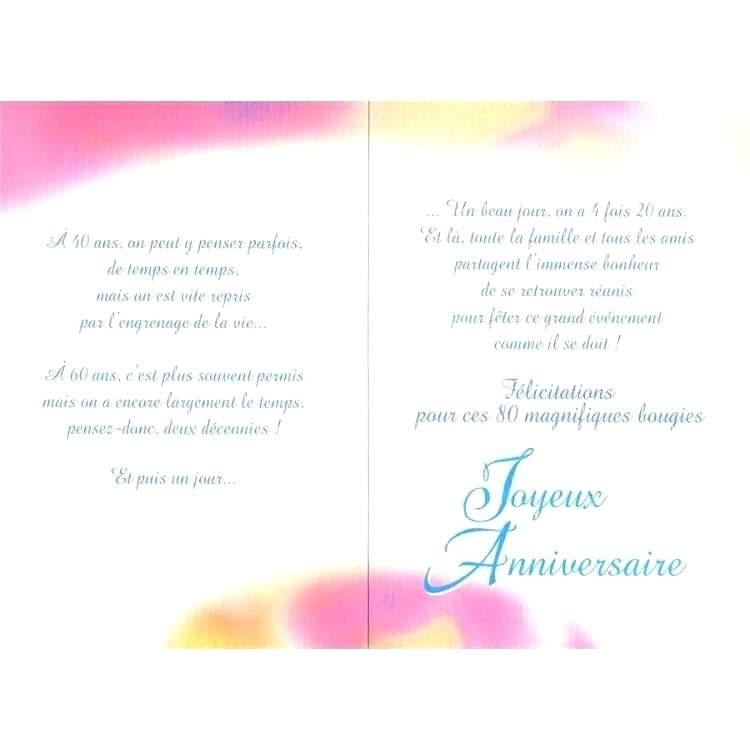 Texte Anniversaire 80 Ans Poeme Elevagequalitetouraine