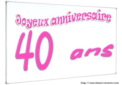 Texte anniversaire a 40 ans